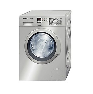 Bosch 7 kg Fully-Automatic Front Loading Washing Machine (WAK24168IN, Silver, Inbuilt Heater) price in India.