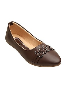 brown slip on ballerinas