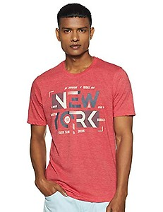 EASYBUY Men's Slim T-Shirt (SP20DA03MT_RED_M)