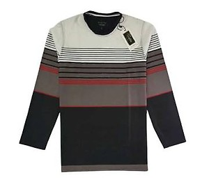 GENTS, GLOSSY-COTTON LONG-SLEEVE T-SHIRT.