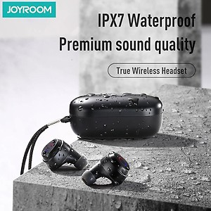 JOYROOM JR-TL1 Bluetooth 5.0 TWS Wireless Earbuds, iPX7 Waterproof with Charging Case