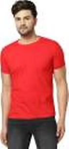 Solid Men Round Neck Red T-Shirt