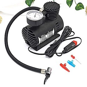 KRILAS Air Compressor for Car and Bike 12V 300 PSI Tyre Inflator Air Pump for Motorbike,Cars,Bicycle,for Football,Cycle Pumps for Bicycle,car air Pump for tubeless