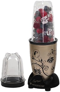 Wonderchef Nutri Blend Nutri-Blend 400 W Juicer Mixer Grinder  (Champagne, 2 Jars) price in India.