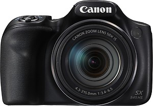 Canon PowerShot SX540 HS(20.3 MP, 50x Optical Zoom, 50x Zoom Digital Zoom, Black) price in India.