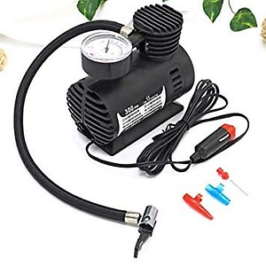 Hopes Air Compressor for Car and Bike 12V 300 PSI Tyre Inflator Air Pump for Motorbike, Cars, Bicycle, for Football, Cycle Pumps for Bicycle, car air Pump for tubeless