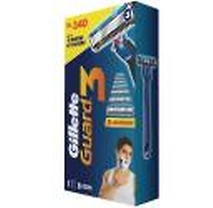GILLETTE Guard 3 Single Razor with 8 Blades(Pack of 9)