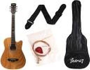 Juarez JRZ38C/ASH Acoustic Guitar Ash, 38 Inch Cutaway, Right Handed Linden Wood Acoustic Guitar(Ash)