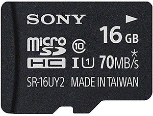 Sony 16 GB MicroSDHC Class 10 70 MB/s Memory Card(With Adapter) price in India.