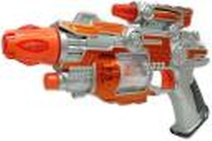 Toyshack Light Up Spin Ball Blaster Toy Gun with Thrilling Multicolor LEDs and Sound Effects, Really Cool Play Gun for Boys and Girls Diwali Gun(Multicolor)