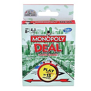 Hasbro MONOPOLY Deal Card Game for Families and Kids Ages 8 and Up, Fast Gameplay with Cards