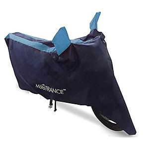 Mototrance Sporty Arc Blue Aqua Bike Body Cover Compatible with Suzuki Access 125