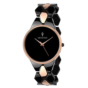 IMPERIOUS - THE ROYAL WAY Analogue Black Dial Women's Watch