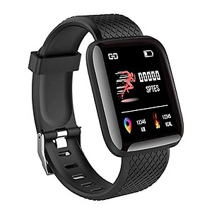 Acesquare Bluetooth Smart Fitness Band Watch with Heart Rate Activity Tracker Waterproof Body, Step and Calorie Counter, Blood Pressure, OLED Touchscreen for Men / Women