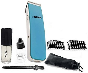 Nova NHT-1045 Rechargeable Cordless: 30 Minutes Runtime Beard Trimmer for Men (Blue) price in India.