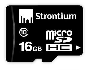 Strontium 16 GB MicroSD Card Class 10 24 MB/s Memory Card price in India.