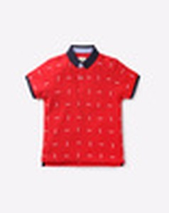 Printed Polo-Neck T-Shirt