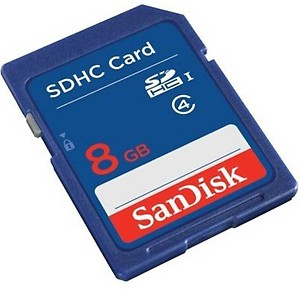 SanDisk SDHC 8 GB SD Card Class 4 15 MB/s Memory Card price in India.