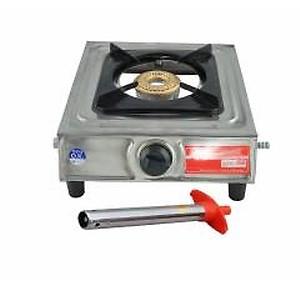 Navisha Single Burner Stainless Steel Gas Stove (Free Lighter)