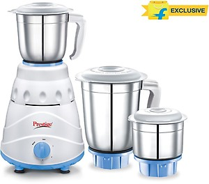 Prestige Atlas 550 W Mixer Grinder  (white and Blue, 3 Jars) price in India.