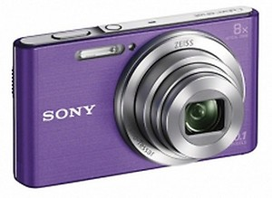 Sony DSC W830 Cyber-Shot 20.1 MP Point and Shoot Camera (Black) with 8X Optical Zoom price in India.