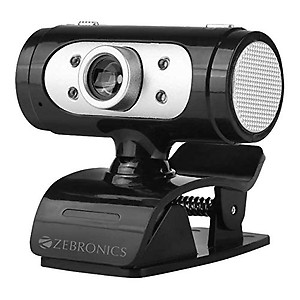 Zebronics Zeb-Ultimate Pro (Full HD) Web Camera with 5P Lens,Built-in Microphone,Auto White Balance,Night Vision,Manual Switch for LED (Black)
