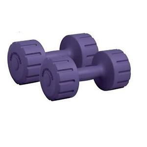 Gamma Fitness PVC Dumbbell (1 Kg, Multicolor)