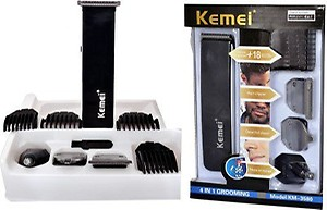 Kemei KM-3580 Trimmers (Black/Blue) price in India.