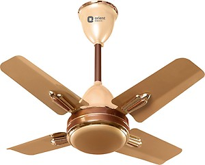 Orient Electric Quasar Ornamental Chocolate 600 mm 600 mm 4 Blade Ceiling Fan(Gold, Brown, Pack of 1) price in India.