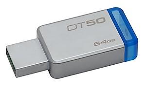 Kingston DT50/64GBIN 64 GB USB 3.0 Pendrive ( Grey ) price in India.