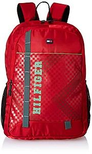 Tommy Hilfiger Red Laptop Backpack (TH/AMBA04/LAP)