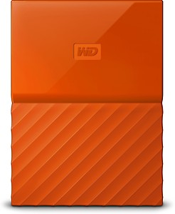 WD My Passport 1 TB Wired External Hard Disk Drive(Orange) price in India.