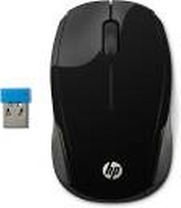 HP 200 Wireless Optical Mouse(2.4GHz Wireless, Black)