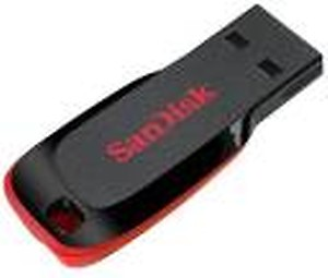 Sandisk Cruzer Blade 16 GB Utility Pendrive(Black, Red) price in India.