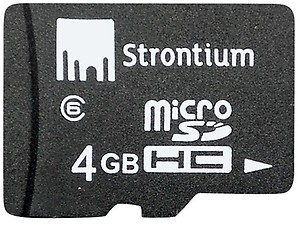 Strontium 4 GB MicroSD Card Class 6 24 MB/s Memory Card price in India.