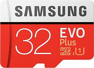 Samsung EVO Plus 32 GB MicroSDHC Class 10 100 MB/s Memory Card  (With Adapter) price in India.