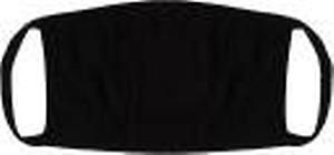 Vaishma Plain Black_reusable outdoor protection mask Plain Black(Free Size, Pack of 1)